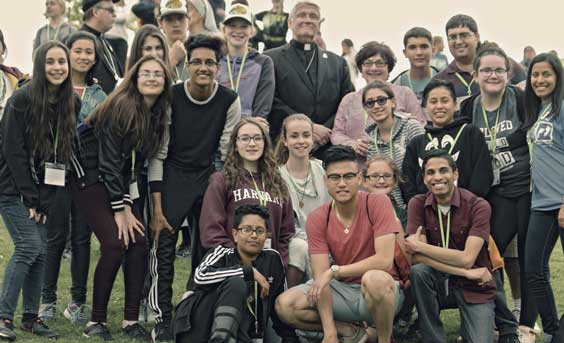 Bishop Crosby with Youth