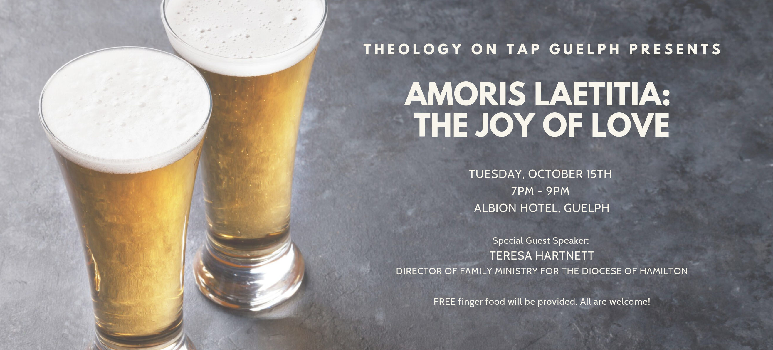 Theology on Tap presents Amoris Laetitia: The Joy of Love
