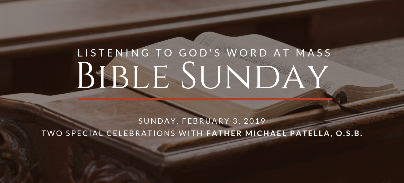 Bible Sunday<br/><strong>Sunday, February 3, 2019</strong>