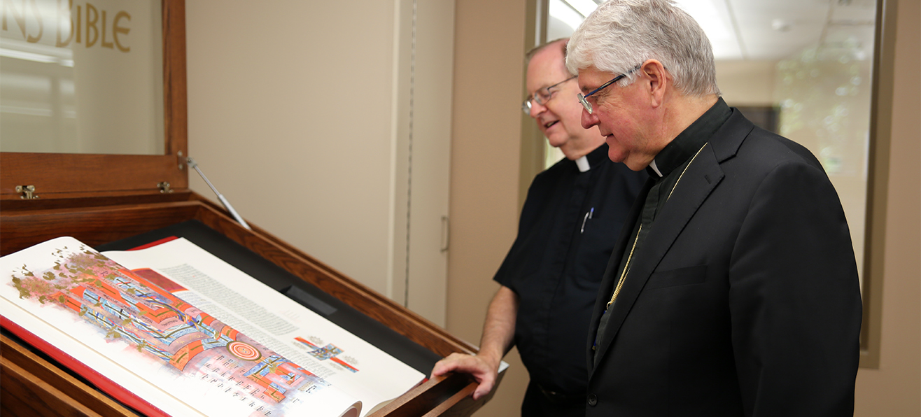 The Saint John's Bible at Bishop Farrell Library