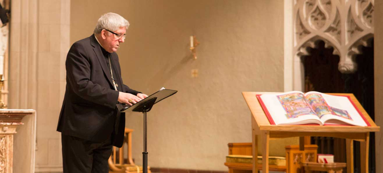 The Reception of The Saint John's Bible Letters and Revelation with Cardinal Collins