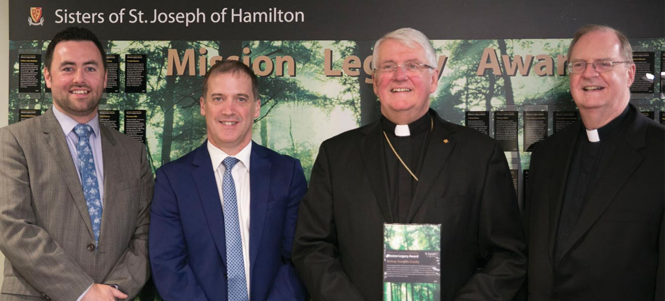 Bishop Crosby Awarded a Mission Legacy Award at St. Joseph's Villa