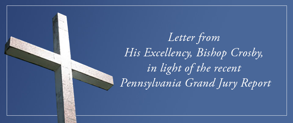 Letter from His Excellency, Bishop Crosby