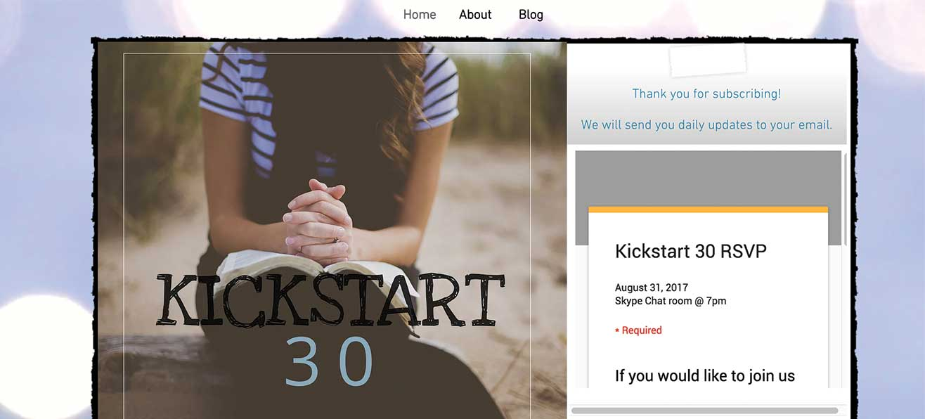 Kickstart 30 Has Begun!