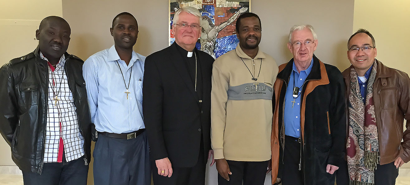 Kenya Missionary Oblates visit with Bishop Crosby