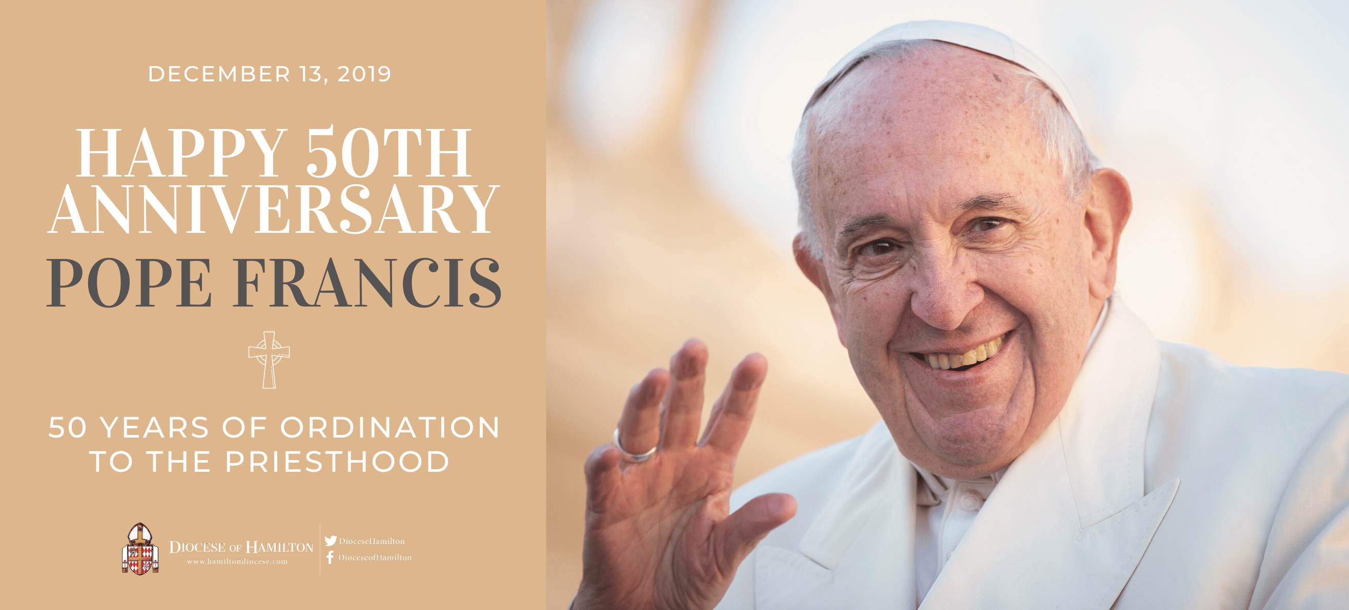 Happy 50th Anniversary, Pope Francis!