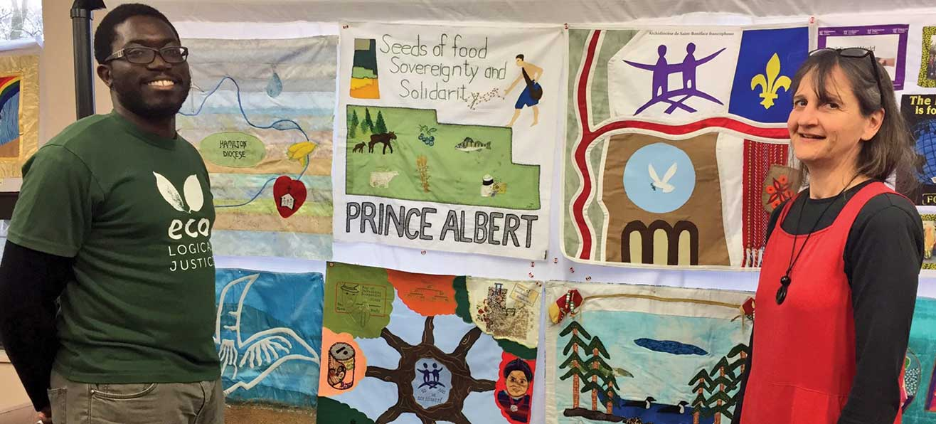 The Development and Peace Solidarity Quilt visits the Diocese of Hamilton