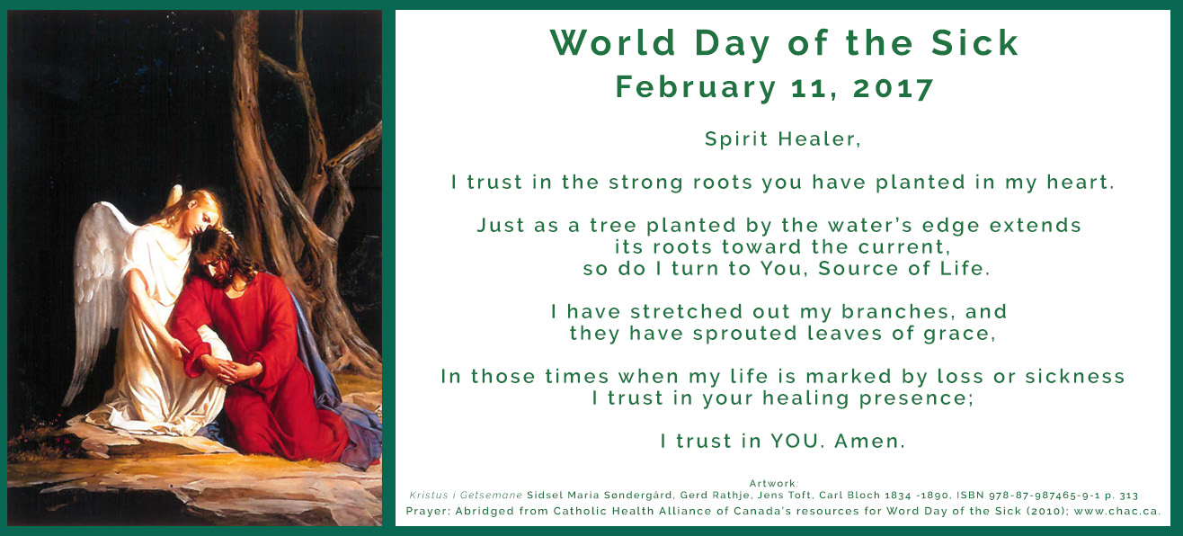 February 11: World Day of the Sick